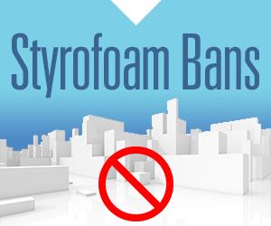 Cities ban styrofoam
